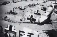 Asisbiz Messerschmitt Bf 109F4Trop abandoned airframes mostly from JG27 Gambut Libya 1942 02