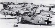 Asisbiz Messerschmitt Bf 109F4Trop abandoned airframes mostly from JG27 Gambut Libya 1942 03