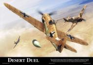 Asisbiz Artwork by aviationclassics titled Desert Duel 0A
