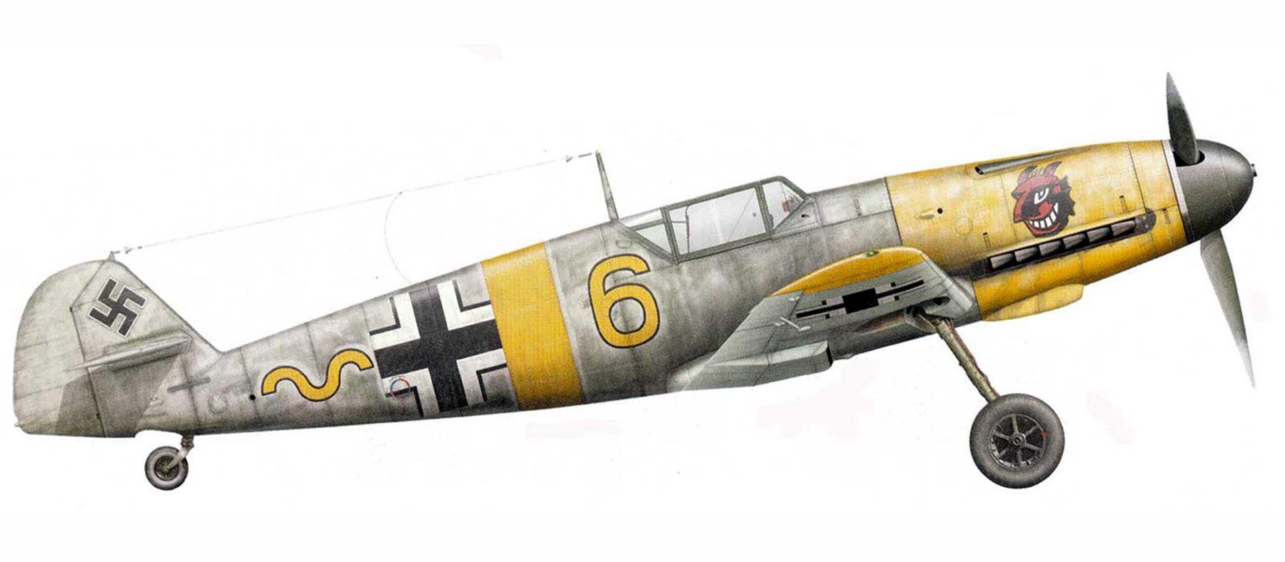 Messerschmitt Bf 109F 9.JG54 Yellow 6 Russia 1941 42 0A