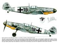 Asisbiz Messerschmitt Bf 109G2 2.(H)14 Black 19 named Edith La Marsa Tunisia Mar 1943 0A