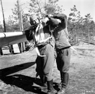 Asisbiz Messerschmitt Bf 109G2 FAF 2.HLeLv24 Jorma Saarinen at Suulajarvi Finland 12th May 1944 01