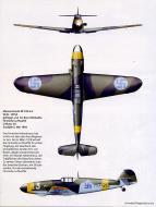 Asisbiz Messerschmitt Bf 109G2 FAF 2.HLeLv24 MT213 Eero Riihikailio WNr 14754 Finland May 1944 0A