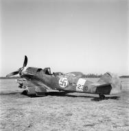 Asisbiz Messerschmitt Bf 109G2Trop FAF 2.HLeLv24 MT236 ground collision Suulajarvi 12th May 1944 01