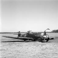 Asisbiz Messerschmitt Bf 109G2Trop FAF 2.HLeLv24 MT242 ground collision Suulajarvi 12th May 1944 01