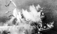 Asisbiz Attack on German Shipping at anchor in a harbour in Holland by RAF Banff Mosquito 01
