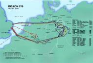 Asisbiz Artwork showing a map of USAAF WWII mission 376 May 28th 1944 0A