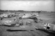 Asisbiz Messerschmitt Bf 109G6 JG11 WNr 410285 await scrapping after the war ebay1
