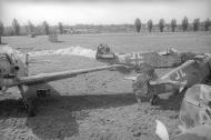 Asisbiz Messerschmitt Bf 109G6 JG11 WNr 414757 and 412605 await scrapping after the war ebay1
