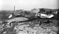 Asisbiz Messerschmitt Bf 109G10 Erla 5.JG2 Blue or Black (4+ ) WNr 150816 Erfurt Apr 1945 01