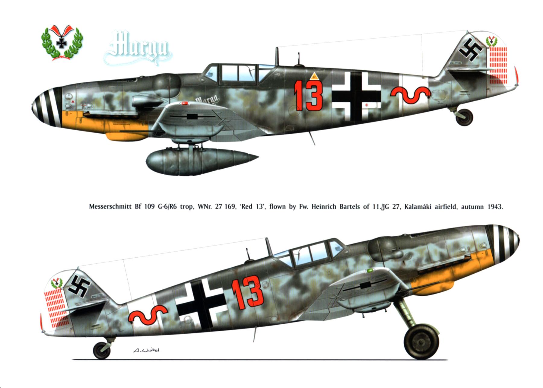 Messerschmitt-Bf-109G6R3R6Trop-11.JG27-R