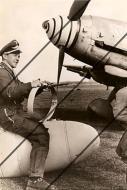 Asisbiz Aircrew Luftwaffe JG3 Heinrich Seel in front of Bf 109G6R6 Bad Worishofen Oct 1943 ebay1