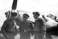 Asisbiz Aircrew Luftwaffe JG3 pilots stand in front of Bf 109G6 01