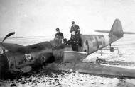 Asisbiz Messerschmitt Bf 109G14AS Erla 11.JG3 Black 1 Stfkpt Karl Heinz Willeke force landed Erndtebruck 02