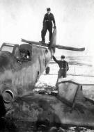Asisbiz Messerschmitt Bf 109G14AS Erla 11.JG3 Black 1 Stfkpt Karl Heinz Willeke force landed Erndtebruck 03