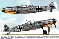 Asisbiz Messerschmitt Bf 109G6 Erla Stab II.JG3 Kurt Brandle WNr 26058 Schiphol Oct 1943 0A