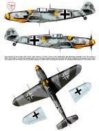Asisbiz Messerschmitt Bf 109G6R6 9.JG3 Yellow 6 Alfred Surau WNr 18807 Bad Worishofen Bavaria Germany Sep 1943 0A
