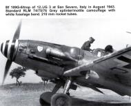 Asisbiz Messerschmitt Bf 109G6WTrop 12.JG3 RH+JD WNr 15762 with 210mm Werfergranaten WGr21 Italy 1943 05