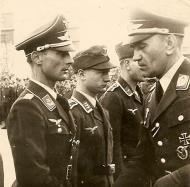 Asisbiz Aircrew Luftwaffe personnel Paul Georg Schaffrath and Oberst Bohnke in Prossnitz 01