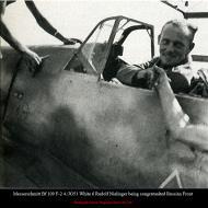 Asisbiz Messerschmitt Bf 109F2 4.JG51 White 6 Rudolf Nielinger being congratualted Russian Front 01