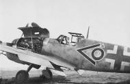 Asisbiz Messerschmitt Bf 109G10R6 Stab JG51 chevron circle under going maintenance 01