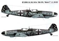 Asisbiz Messerschmitt Bf 109G14AS Erla 2.JG52 Black 7 WNr 786476 Deutsch Brod 1945 0A