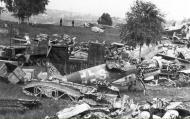 Asisbiz Messerschmitt Bf 109G10U4 Erla 1.JG53 White 9 salvaged remains Germany 1945 01