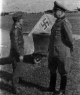 Asisbiz Messerschmitt Bf 109G6 NAG4 15746 Friedrich Wilhelm Kahler and General Veiel 1943 03
