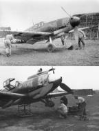 Asisbiz Messerschmitt Bf 109G4 1.NJG2 unknown marking undergoing gear retraction tests Jul 1943 01