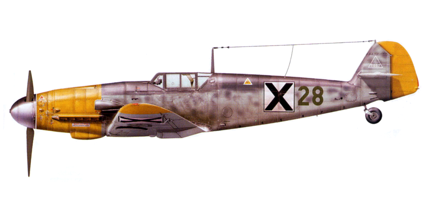 Messerschmitt Bf 109G2 RBuAF 682e escadrille 3.6 groupe Black 28 Stoyan Stoyanaov Karlovo 1943 0A