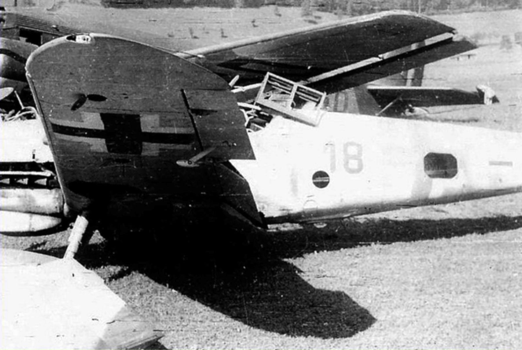 Messerschmitt Bf 109G10 Reichsverteidigung Red 18 after being scrapped unknown unit 1945 01