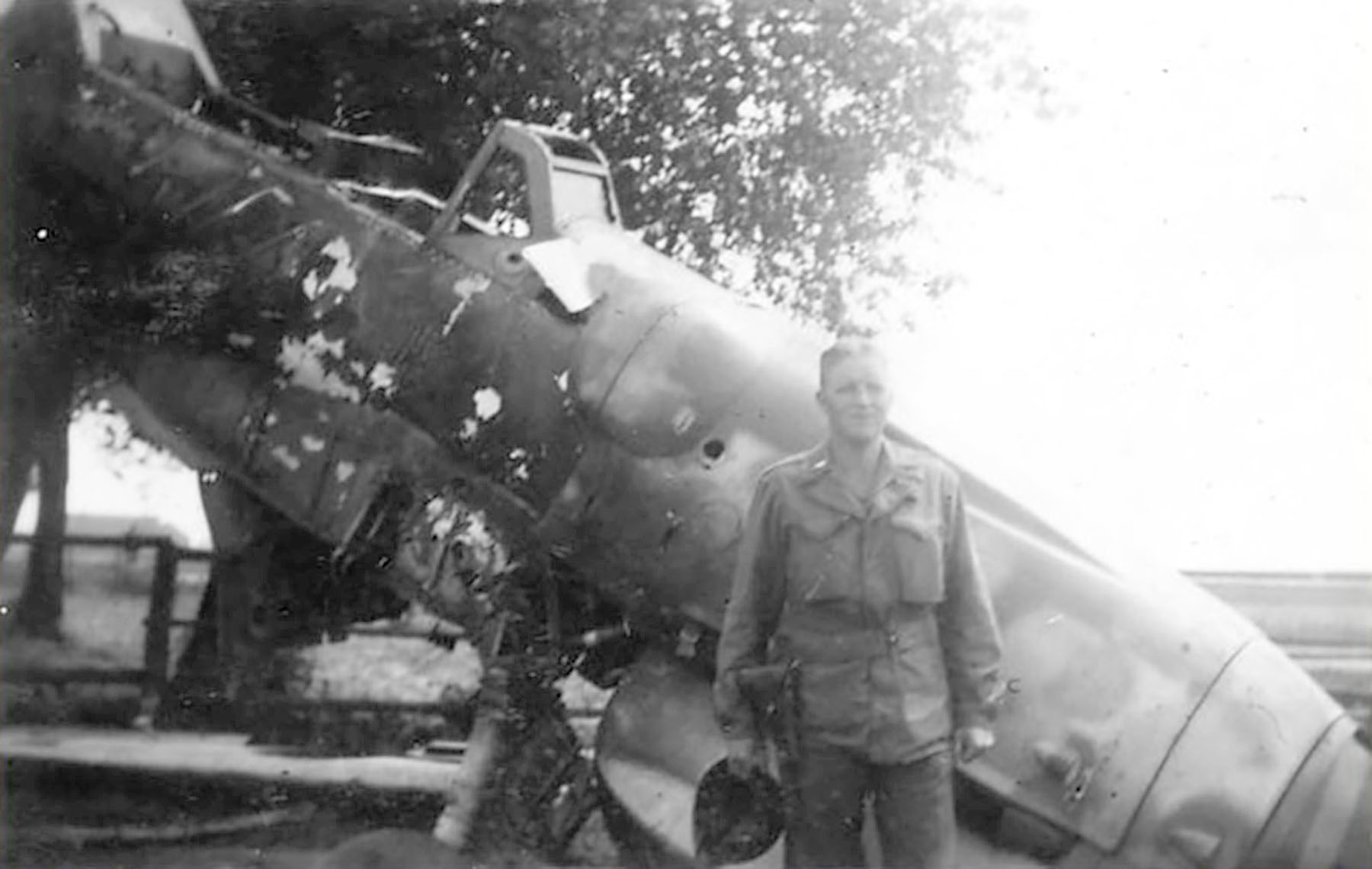 Messerschmitt Bf 109G12 abandoned airframe unknown unit Lt Borelli 1945 01