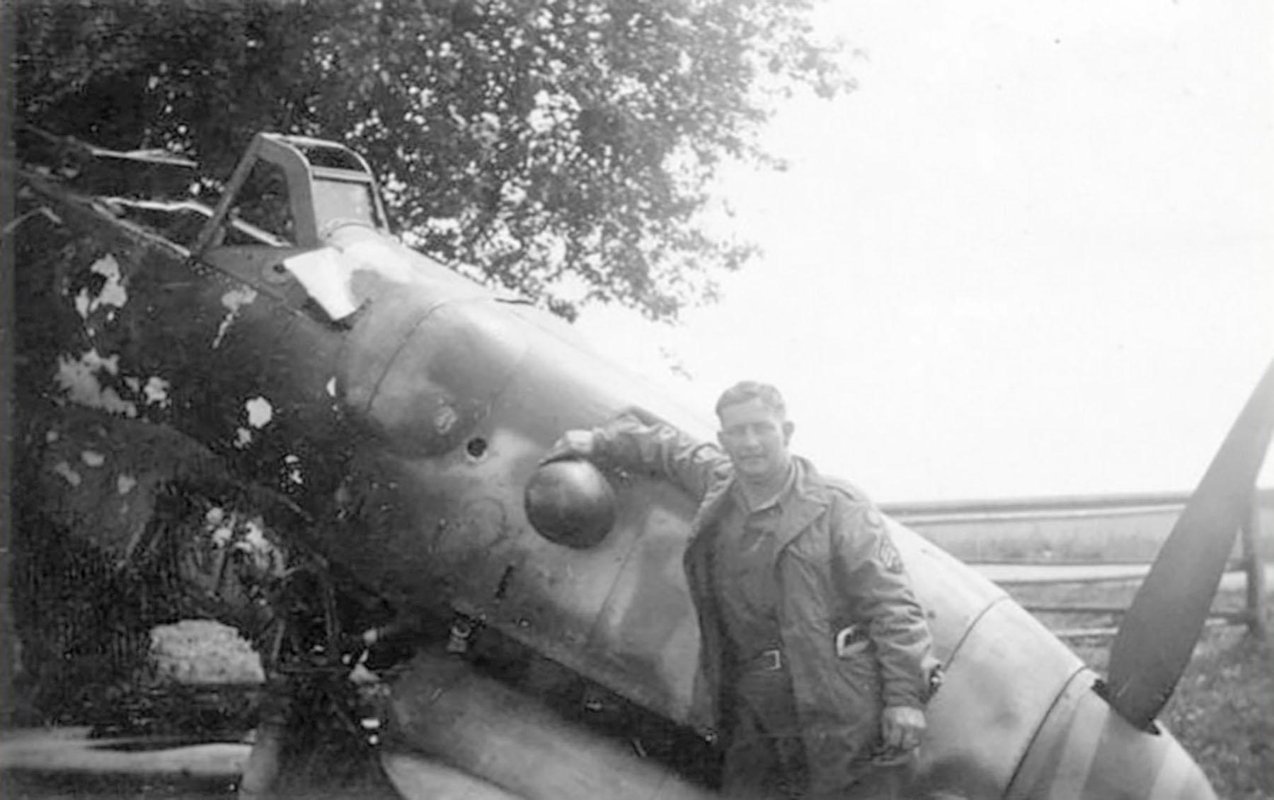 Messerschmitt Bf 109G12 abandoned airframe unknown unit Lt Borelli 1945 02