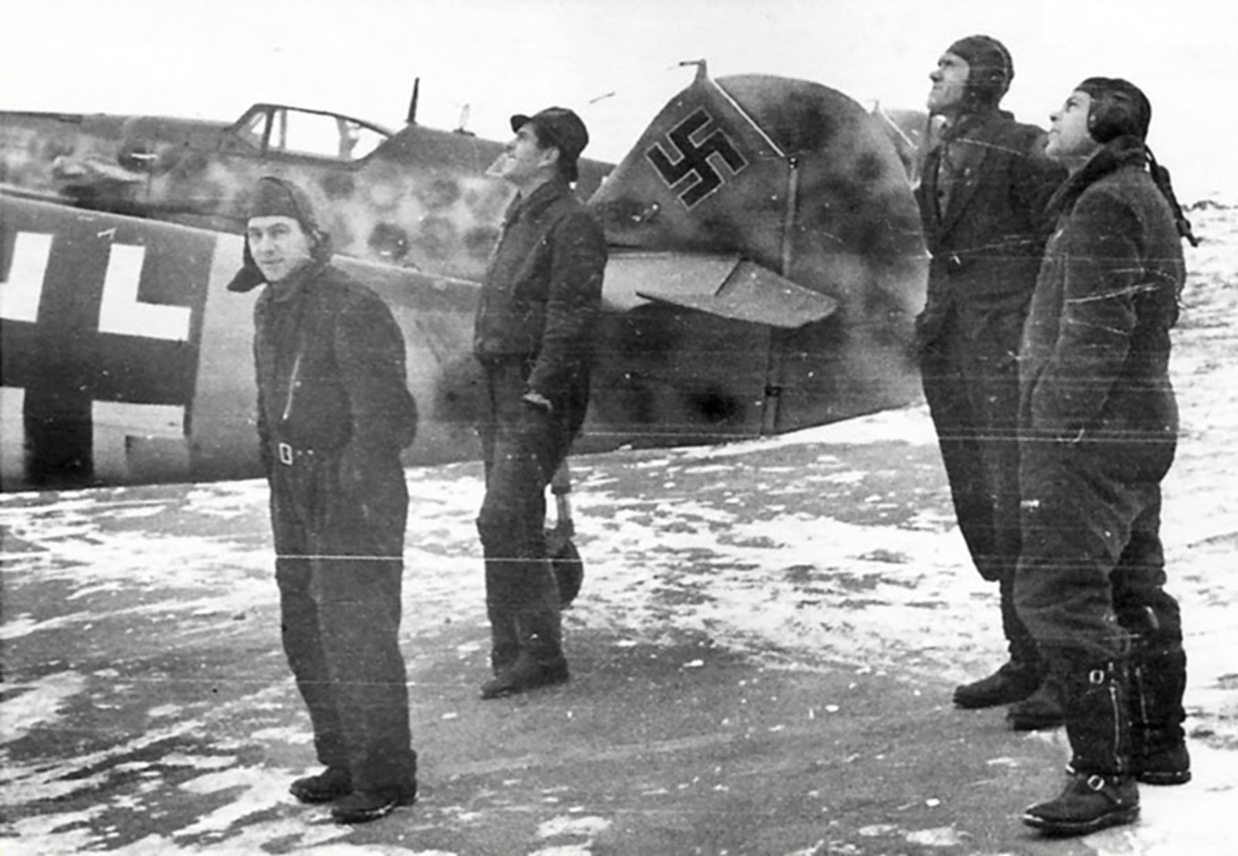 Messerschmitt Bf 109G14 Erla RVT WNr 785102 unknown unit Wertheim Germany Jan 1945 04