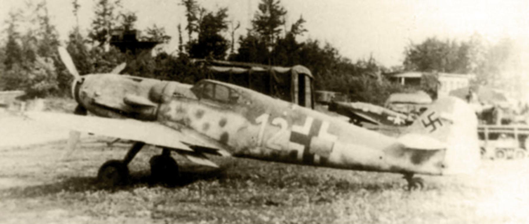 Messerschmitt Bf 109G14 Erla Reichsverteidigung Yellow 12 unknown unit 01