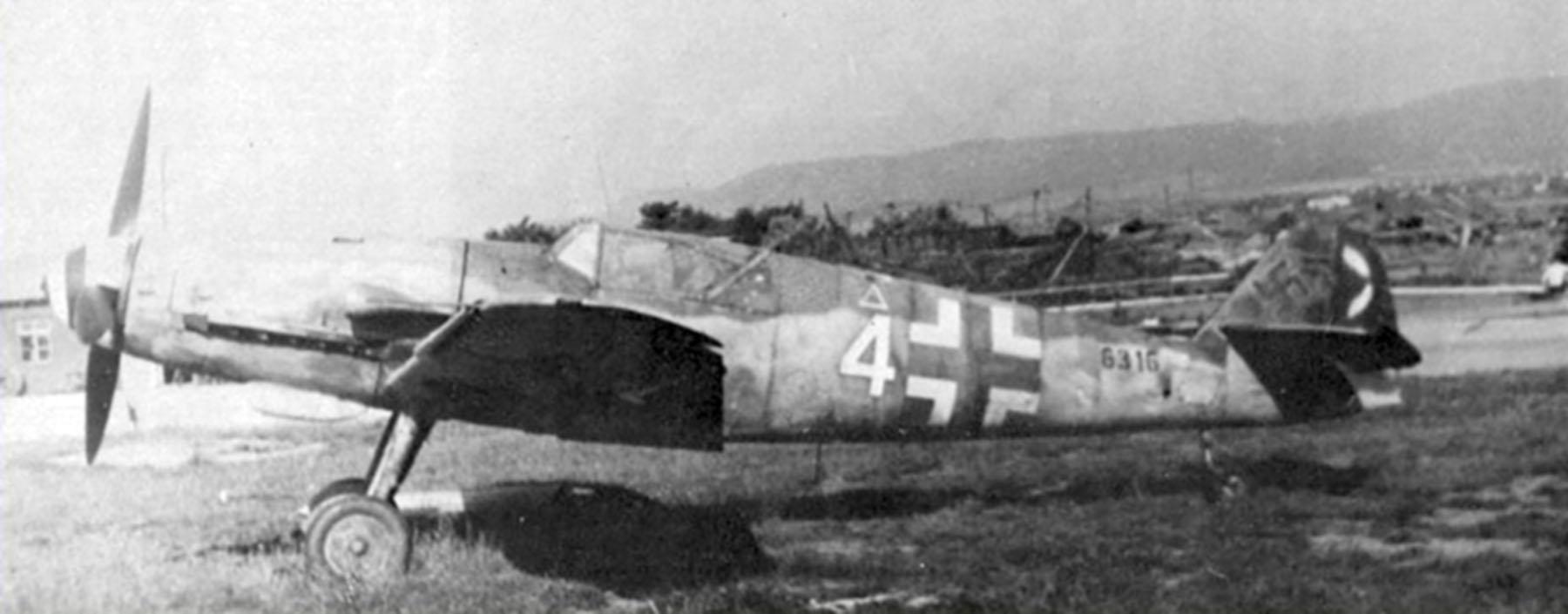 Messerschmitt Bf 109G14AS Erla Reichsverteidigung White 4 WNr 786316 unknown unit and pilot Feb 1945 01