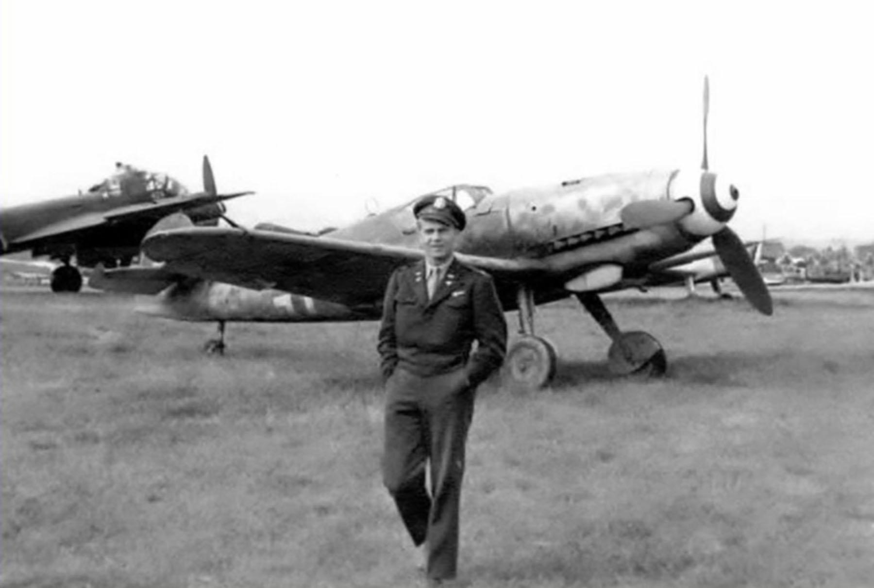 Messerschmitt Bf 109G14AS Erla Reichsverteidigung White 4 WNr 786316 unknown unit and pilot Feb 1945 04