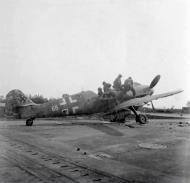 Asisbiz Messerschmitt Bf 109G10R3 Erla Reichsverteidigung White 66 WNr 770157 unknown unit and pilot 1945 02
