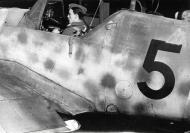 Asisbiz Messerschmitt Bf 109G6R3 Erla Reichsverteidigung Black 5 unknown unit and pilot 01