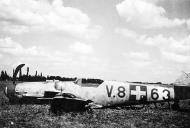 Asisbiz Messerschmitt Bf 109G6 RHAF 101 V8+63 belly landed Hungary 1944 01