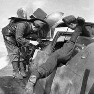 Asisbiz Messerschmitt Bf 109G6 RHAF unknown unit being re armed Hungary 1944 02