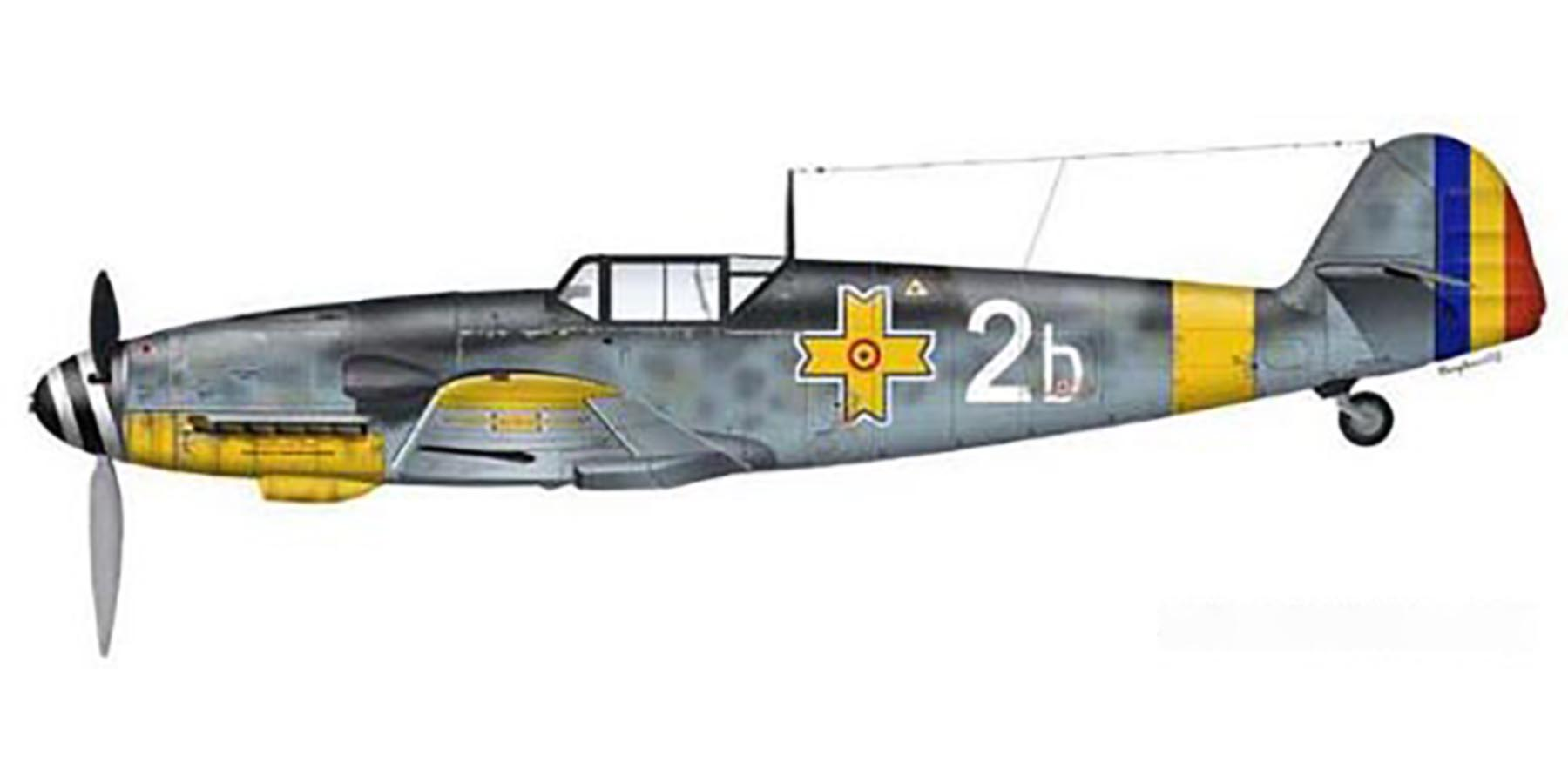 Artwork Ion Dobran flew this Bf 109G4 it was damaged 1st Oct 1943 0A