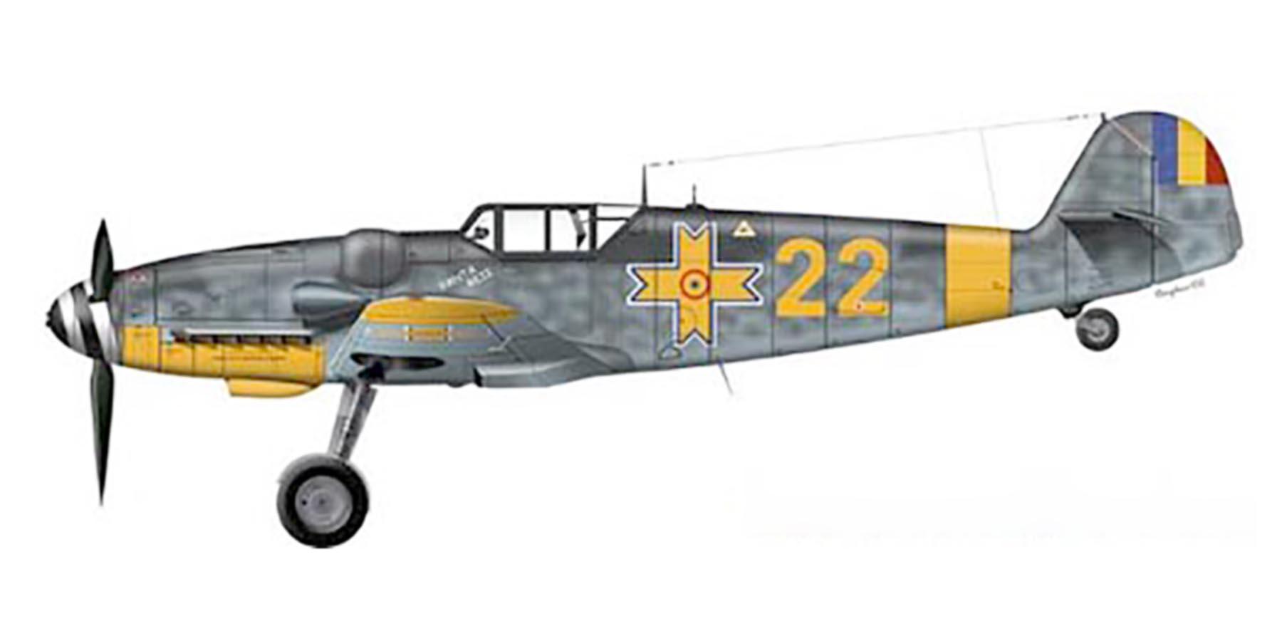 Artwork Ion Dobran flew this Bf 109G6 shot down 6th Jun 1944 0A