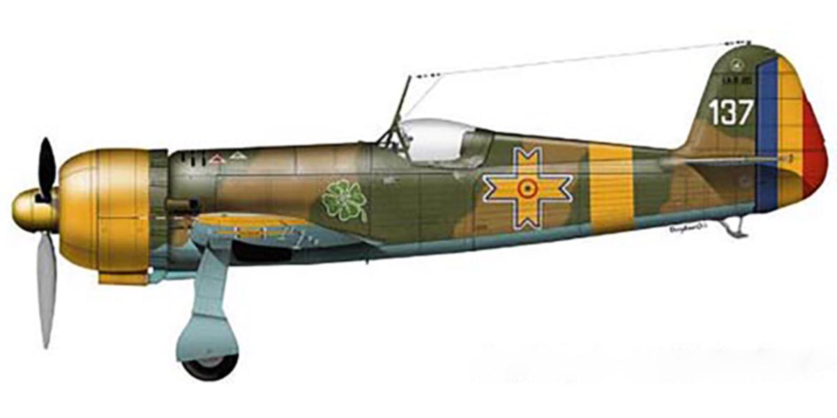 Artwork Ion Dobran flew this IAR 80 during 1942 0A