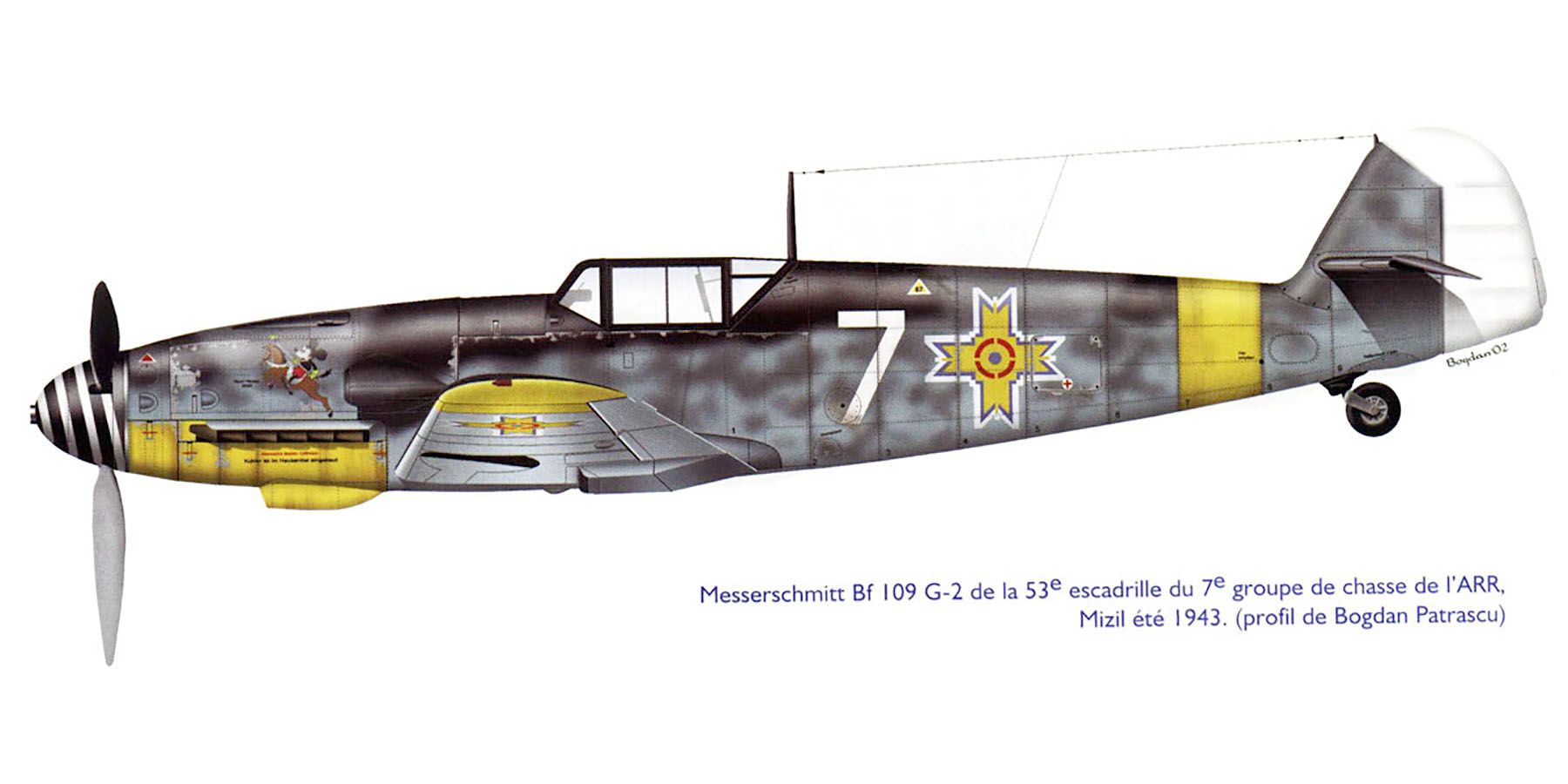 Messerschmitt Bf 109G2 RRAF 7FG White 7 Rumanian AF Dnepropetrovsk Southern Russia April 1943 0A