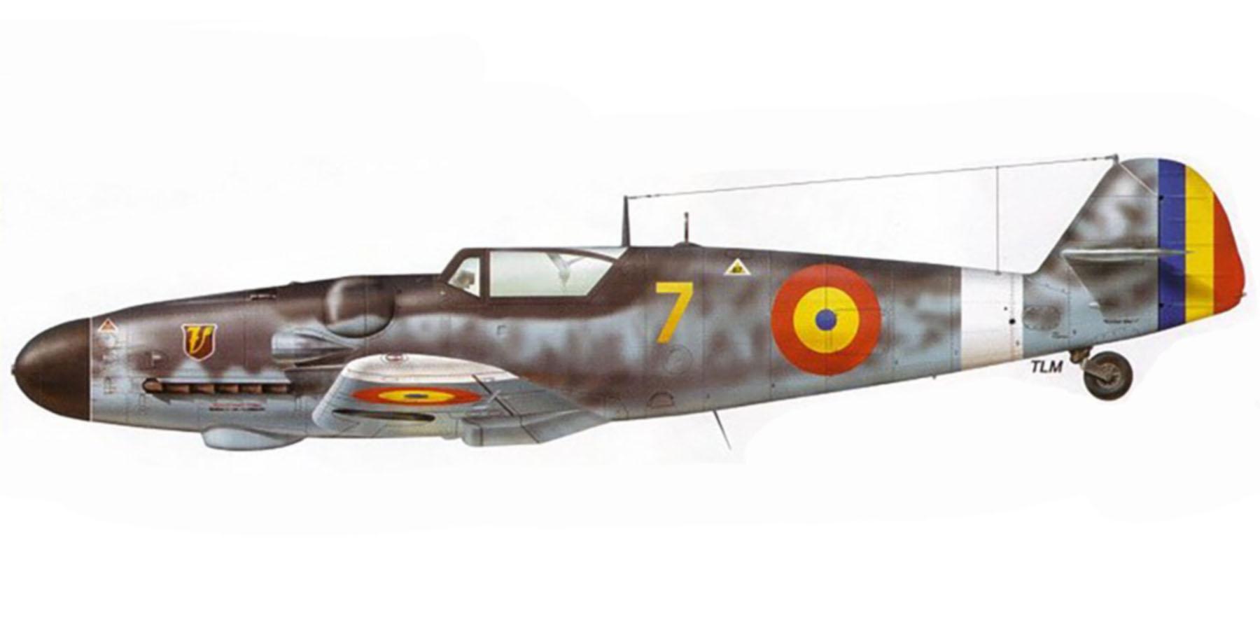 Messerschmitt Bf 109G6 Erla ARR Aeronautica Regala Romana Grupul 7 Yellow 7 Piestany now Slovakia 1945 0A