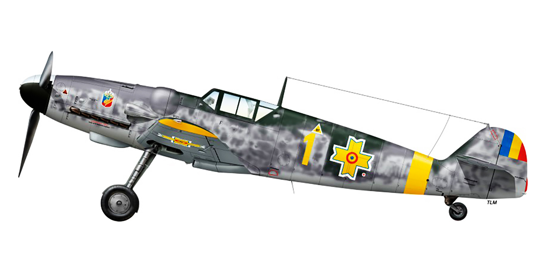 Messerschmitt Bf 109G6 RRAF 7FG Yellow 1 Romania 1944 0A