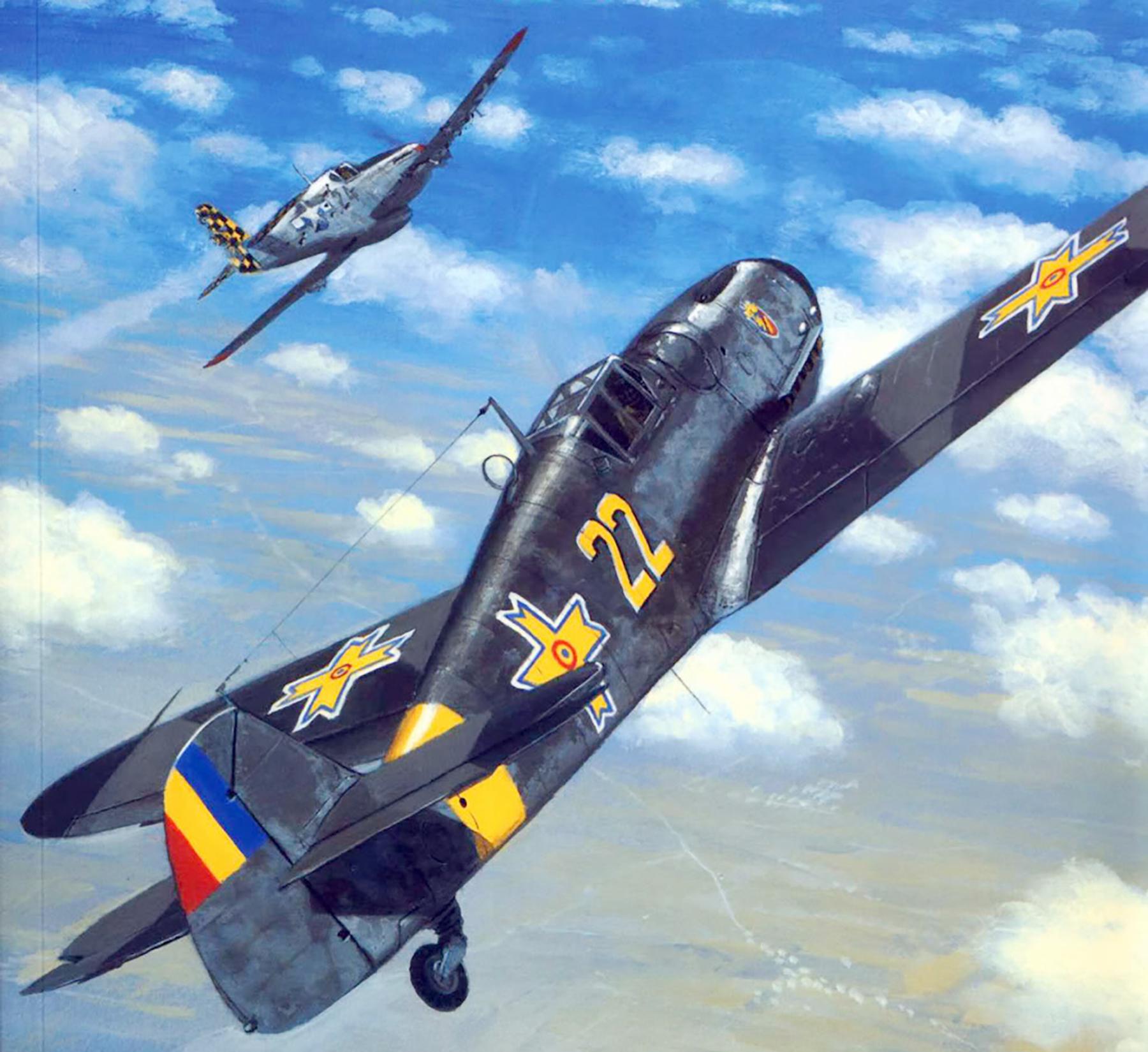 Messerschmitt Bf 109G6 RRAF 7FG Yellow 22 Ion Dobran Romania 1943 0A