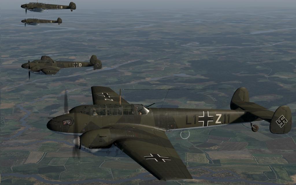 COD C6 Bf 110C1 Zerstorer 1.(Z)LG1 Jesau Sep 1939 V0A