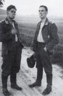 Asisbiz Aircrew Luftwaffe 13.(Z)LG1 pilot Gerhard Jentzsch left and Friedrich Lindemann 01